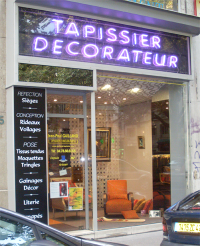 magasin tapissier lyon dans le 3 me arrondissement. Black Bedroom Furniture Sets. Home Design Ideas